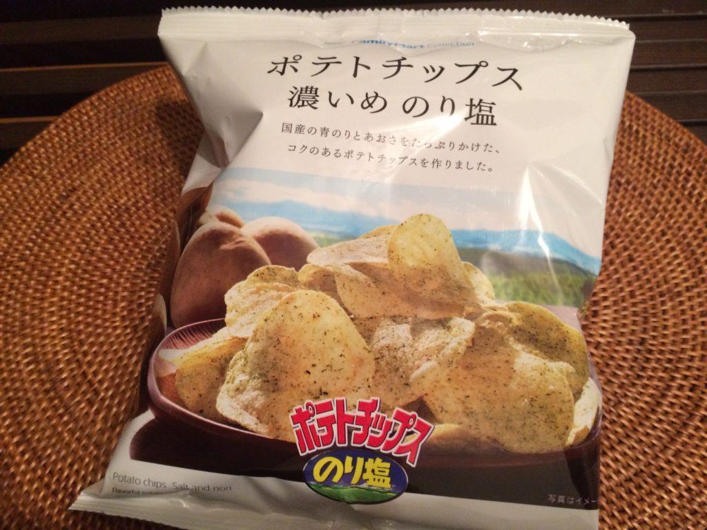 ポテトチップス濃いめのり塩